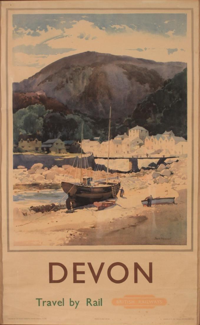 Jack Merriott (1901-1968) Devon, original poster