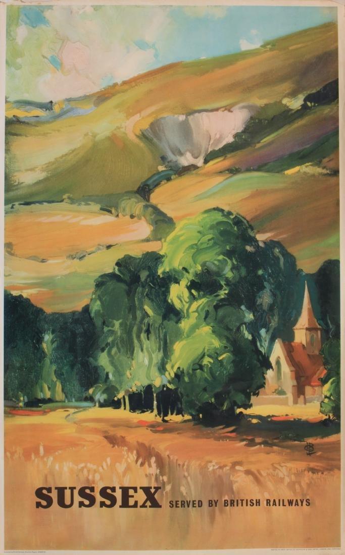 Claude Buckle (1905-1973) Sussex, original poster Ad