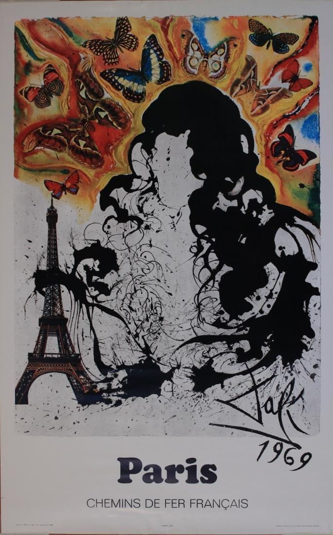Salvador Dali (1904-1989) Paris, original poster