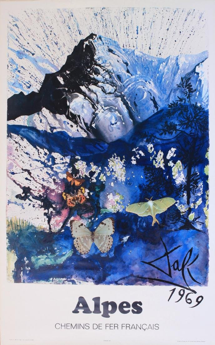 Salvador Dali (1904-1989) Alpes, original poster