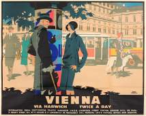 Frank Newbould (1887-1951) Vienna via Harwich Twice a