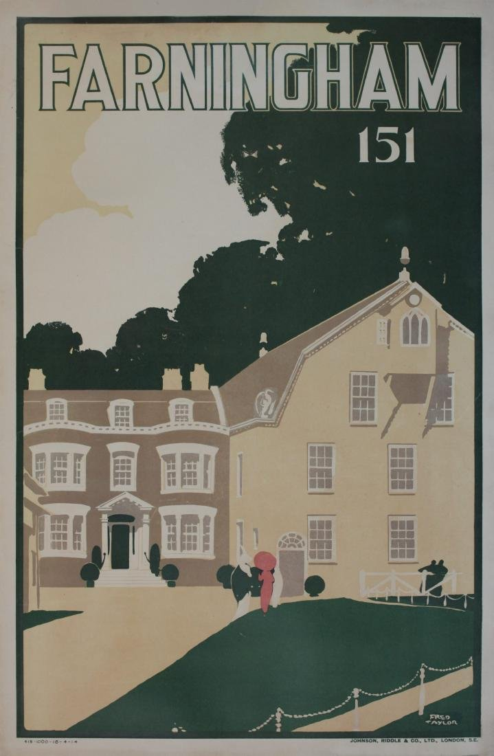 Fred Taylor (1875-1963) Farningham 151 (Route) original