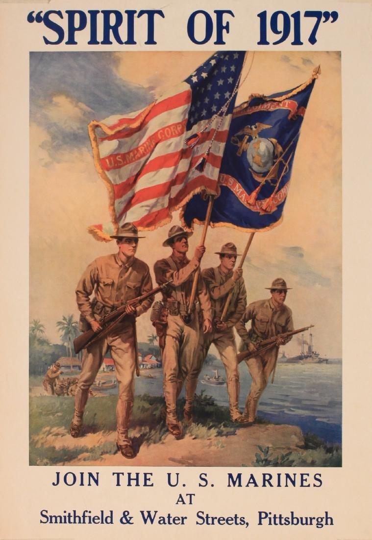 "Anon  ""Spirit of 1917 "" Join the US Marines, original"