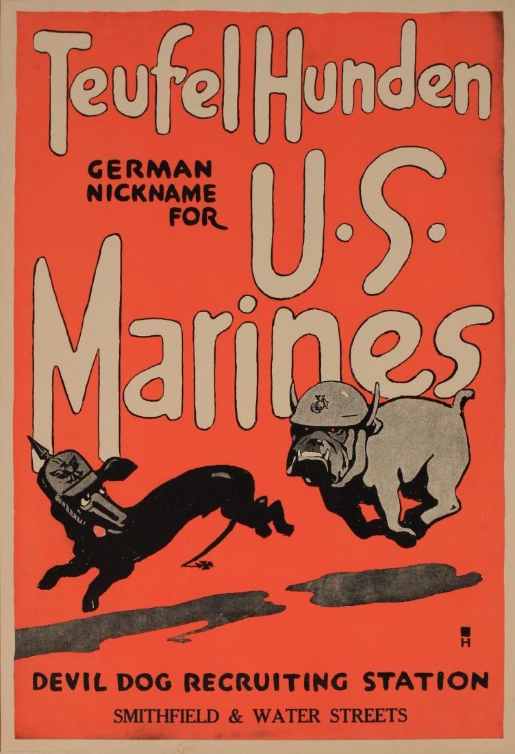 Charles B Falls (1874-1960) Teufel Hunden US Marines,