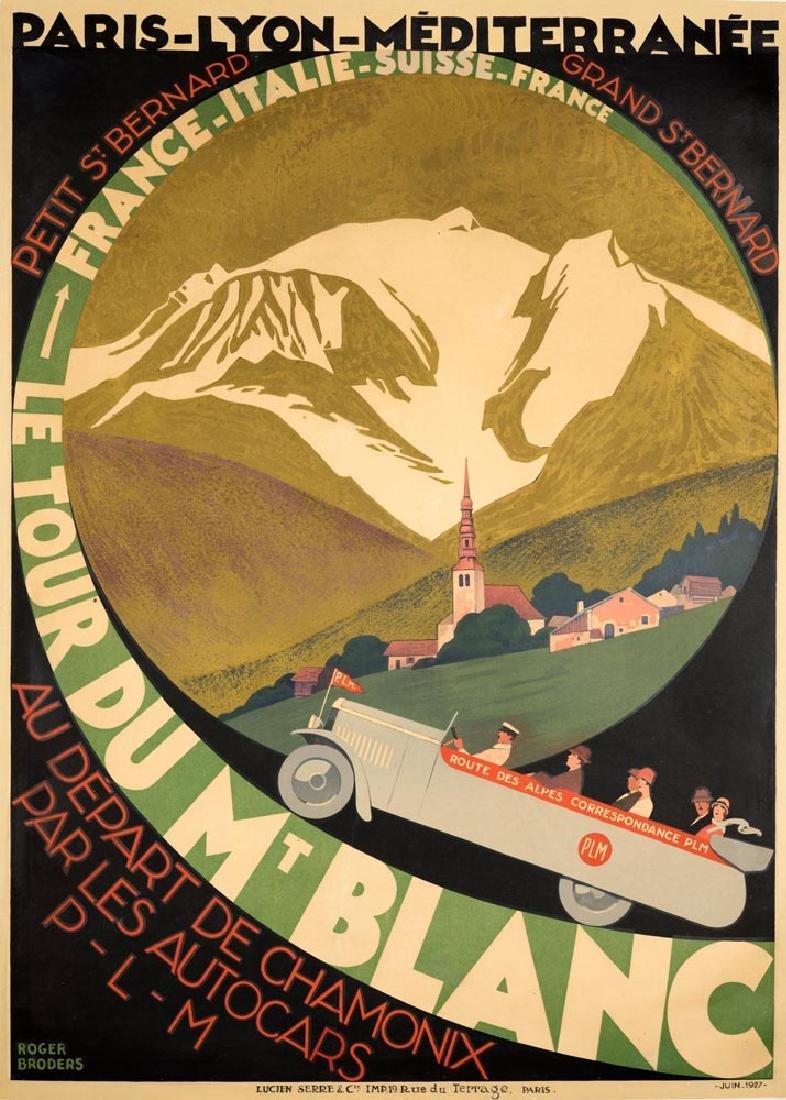 Roger Broders (1883-1953) Le Tour Du Mt Blanc, original