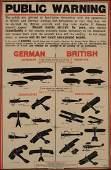 Public Warning British and German Airships and