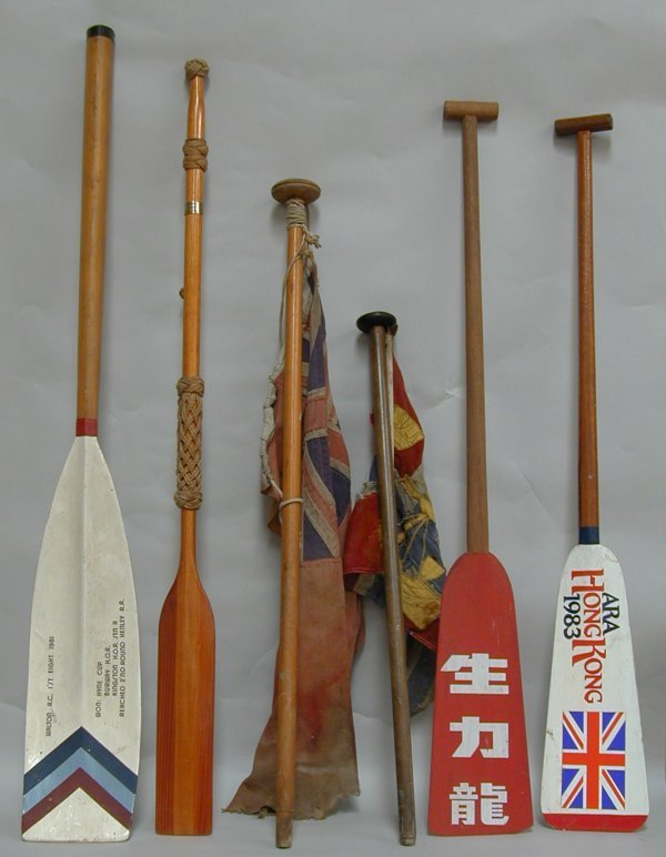 5A: Paddles and oars, four including two presentation,