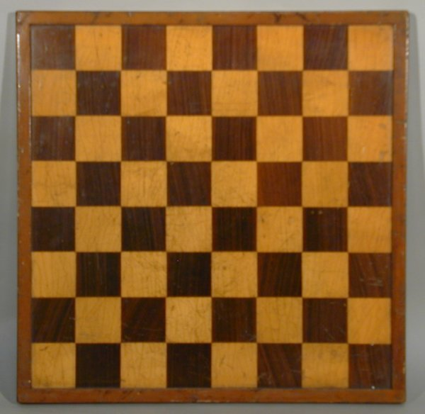 7A: Union-Castle Line, inlaid wood chess/draughts board