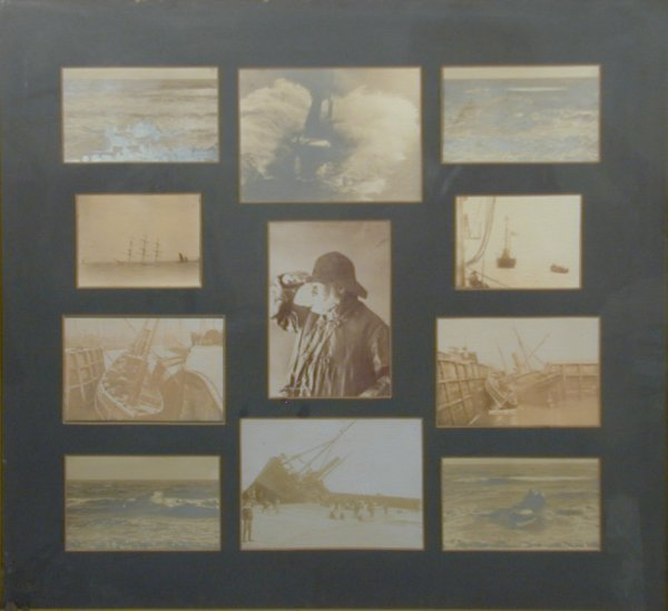 9A: Lifeboats and wrecks circa 1900, a montage of eleve