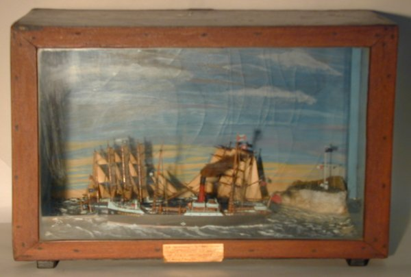 17: SS Glenroy, Circa 1880, a diorama with sailing pack