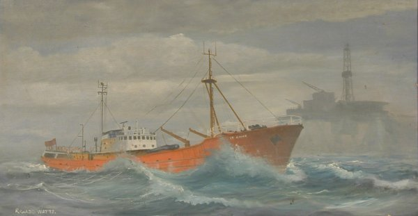 24: Richard Watts St Anne rough and rig, signed oil on