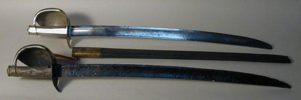 342: A Circa 1800 British Naval Boarding Cutlass, blade