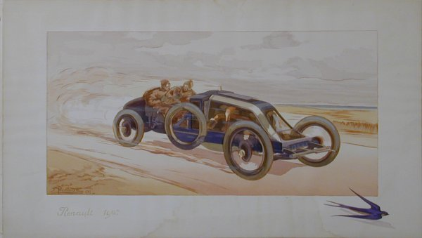 9: Vintage Montaut/Gamy lithograph