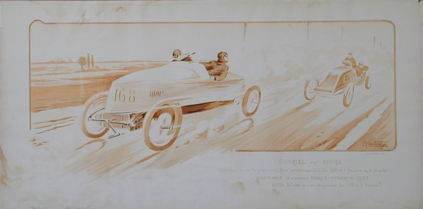 10: Vintage Montaut/Gamy lithograph