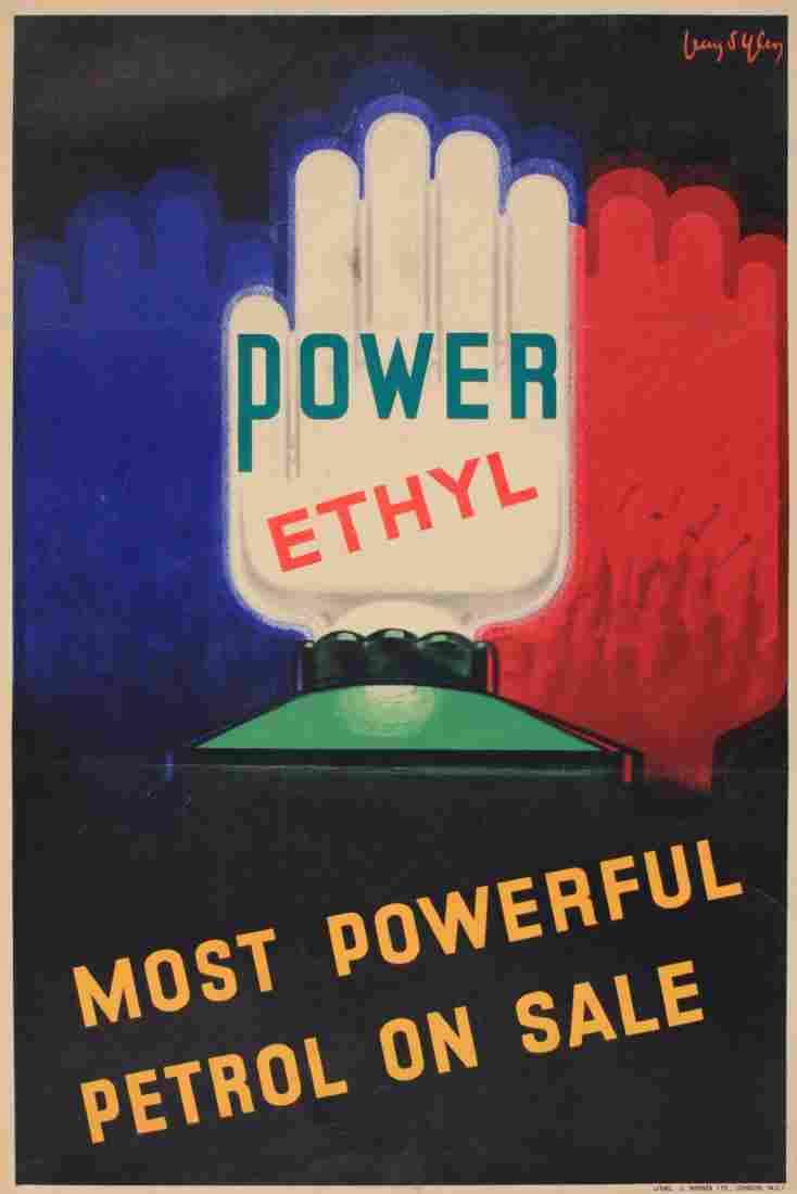 Jean D'Ylen (1866-1938) Power Ethyl , original poster