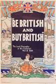 Anon  Be British and Buy British  Buy British poster