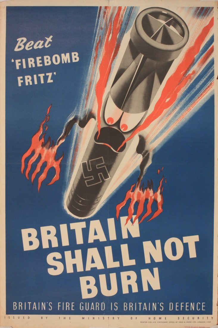 "Anon Beat  ""Firebomb Fritz "" Britain Shall Not Burn ,"