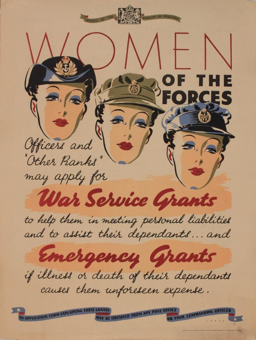 Jones Women of the Forces , original WW2 Ministry of