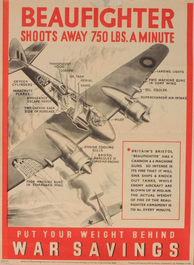 Beaufighter , cutaway diagram , original WW2 National