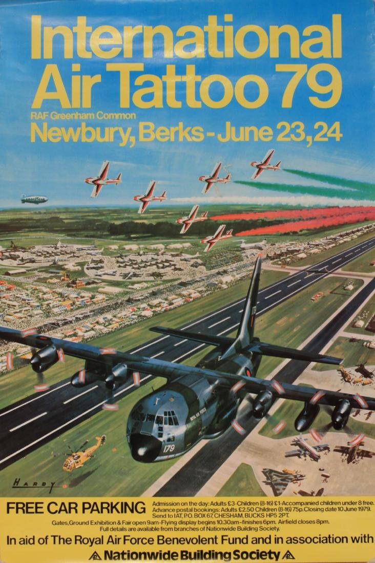 Air Show posters 1974 to 1979 , five including Air
