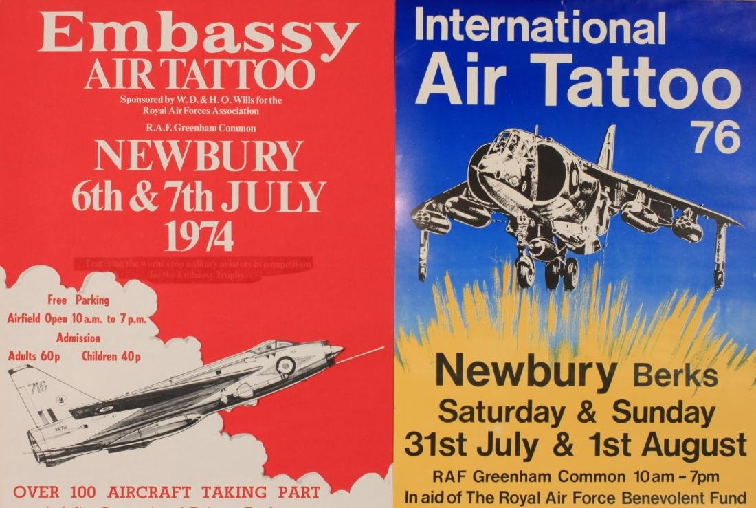 Air Show posters 1974 to 1979 , five including Air - 2