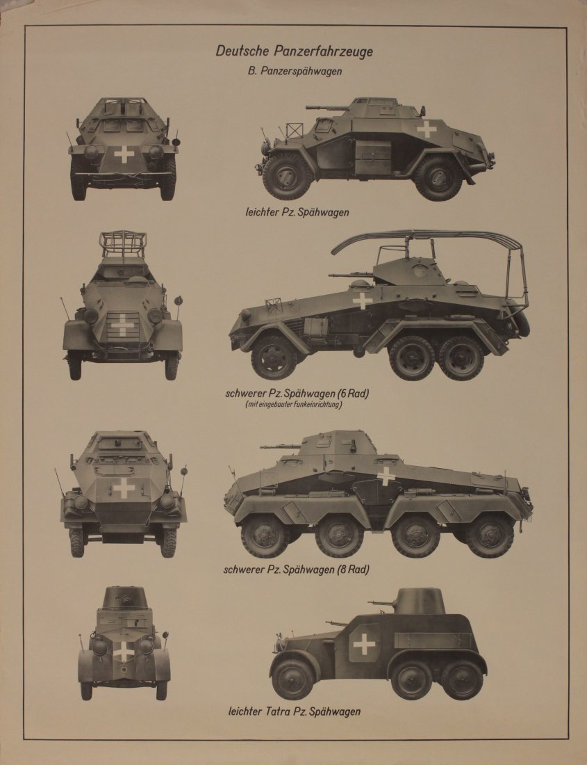 German Armoured Vehicles Identification WW2 period post