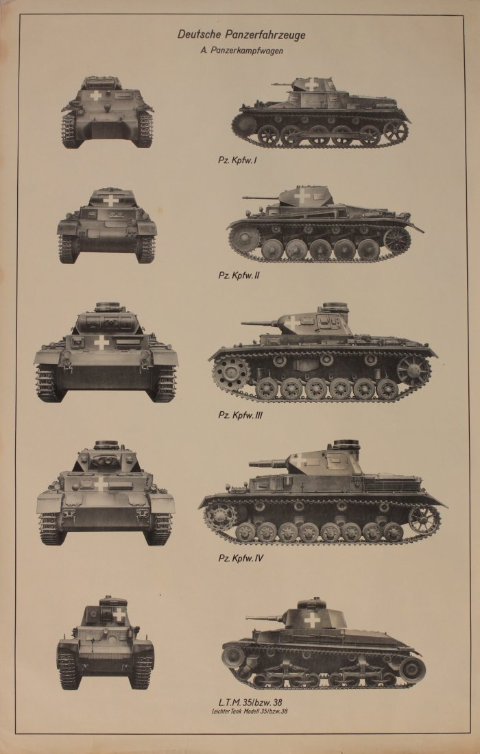 German Armoured Vehicles Identification WW2 period post - 2
