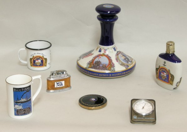 2: Blue Funnel Line and other souvenirs including table