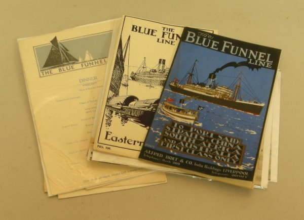 4: Blue Funnel Line, January 1938 brochure no 188 with