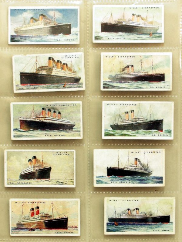 5: Will's Merchant Ships of the World cigarette cards s