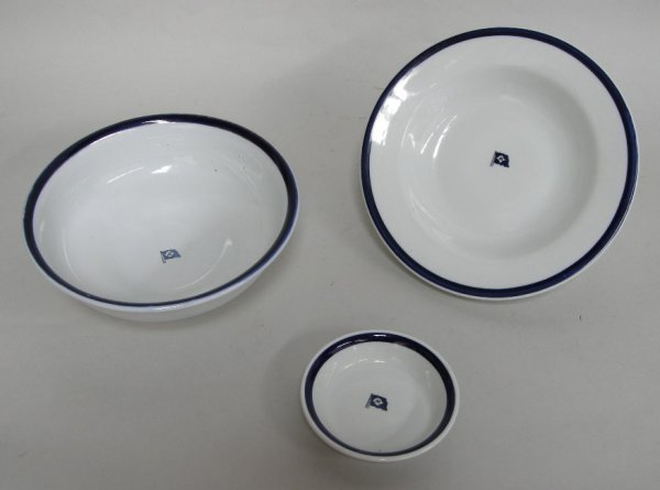 11: Alfred Holt & Co soup bowl, small dish and fruit bo