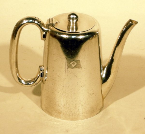13: Alfred Holt & Co Walker & Hall silver-plate coffee