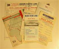 623 A collection of sailing cards and schedules for va