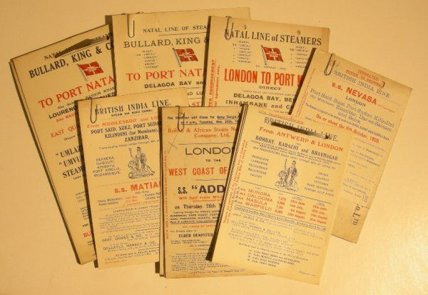 629: A collection of sailing cards, British India Line