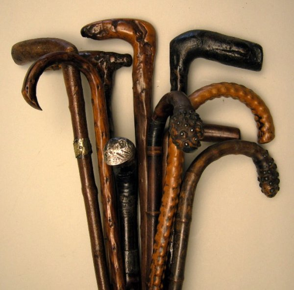 704: Antique Walking Sticks and Canes