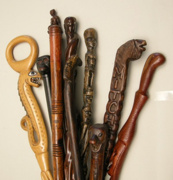 717: Antique Walking Sticks and Canes