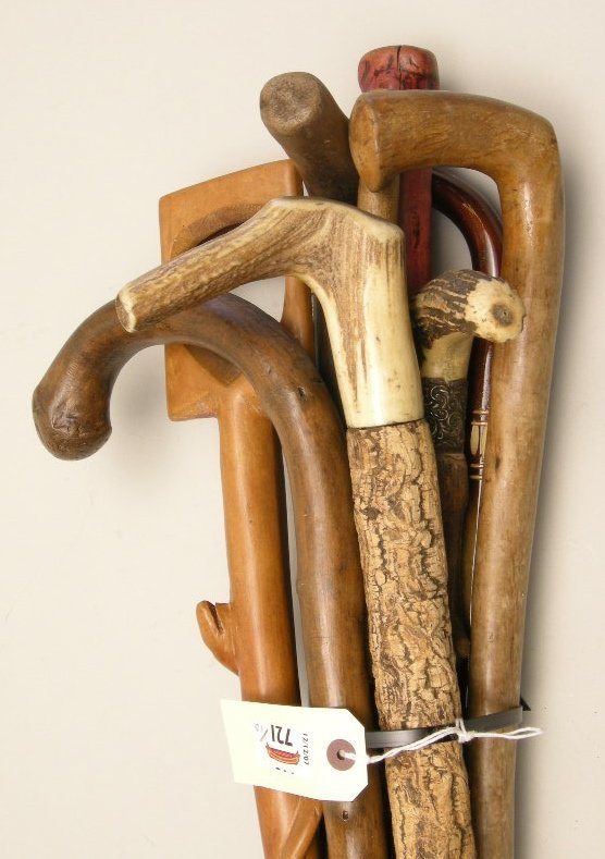 721: Antique Walking Sticks and Canes