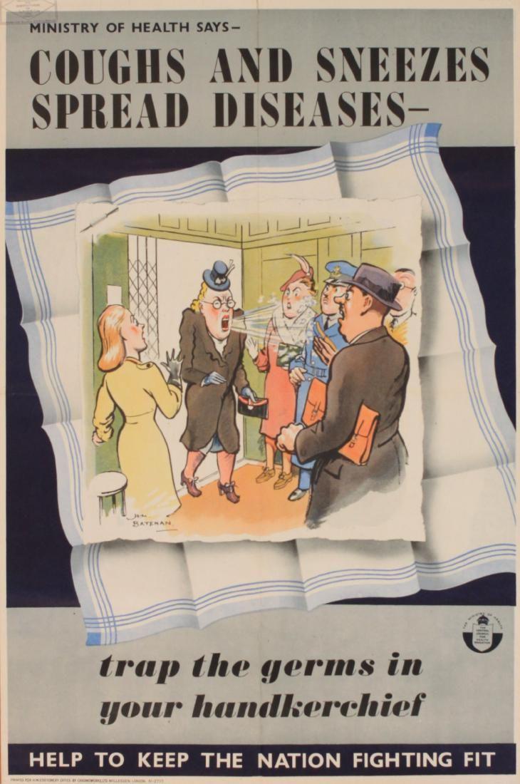 H M Bateman (1887-1970) Coughs and Sneezes Spread