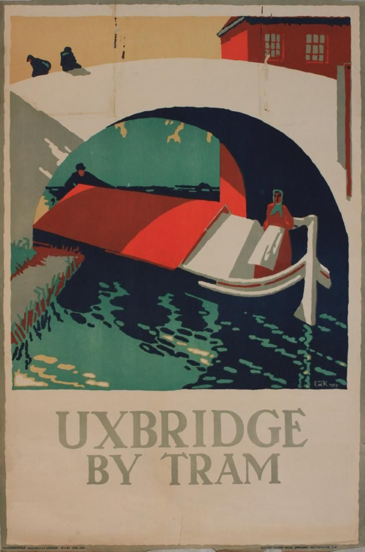 E McKnight Kauffer (1890-1954) Uxbridge by Tram ,