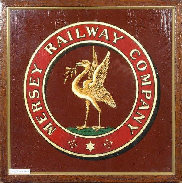 7: Mersey Railway Company, an original crest, varnished