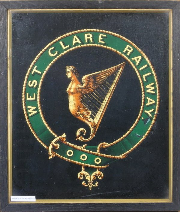 12: West Clare Railway, an original crest, transfer on