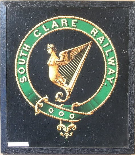 18: South Clare Railway, an original crest, transfer on