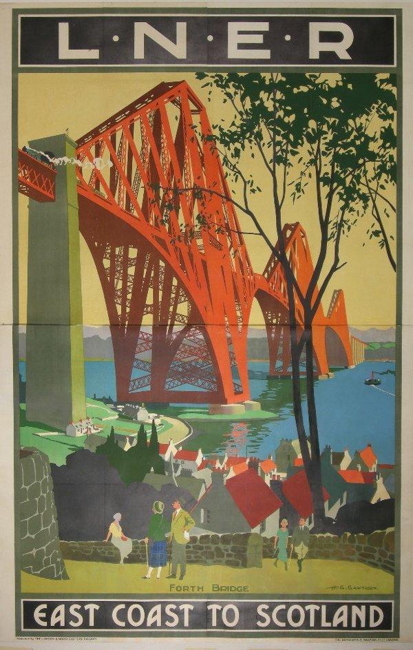 117: H G Gawthorn (1879-1941) Forth Bridge L.N.E.R East