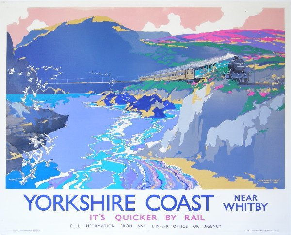 279: Frank H Mason (1876-1965) Yorkshire Coast Near Whi