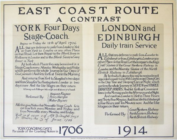289: Anon East Coast Route 1706 1914, original poster p