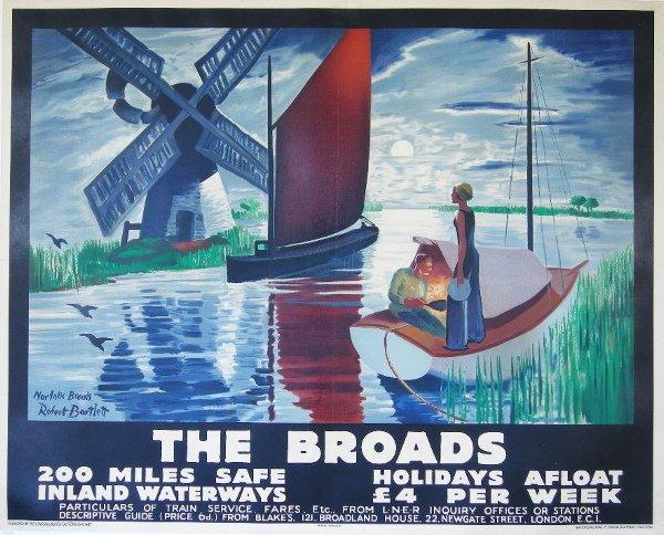 293: Robert Bartlett  The Broads, original poster print