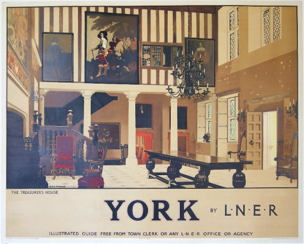 294: Fred Taylor (1875-1963) York, The Treasurer's Hous