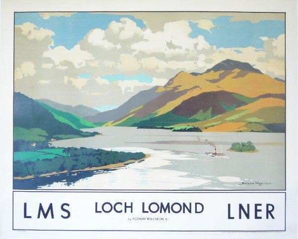 295: Norman Wilkinson (1878-1971) Loch Lomond, original