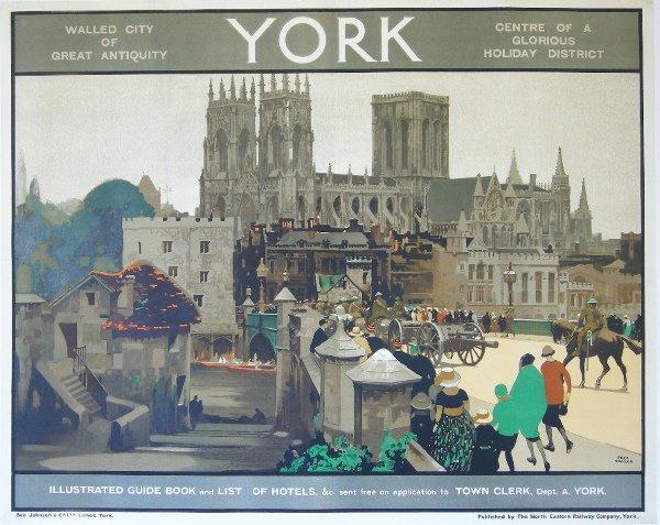 296: Fred Taylor (1875-1963) York, original poster prin