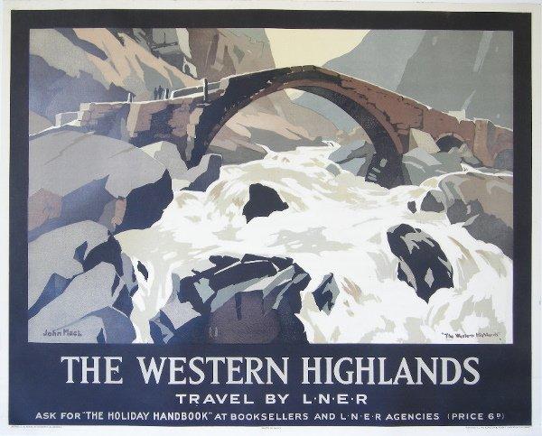 297: John Mace Western Highlands, original poster print